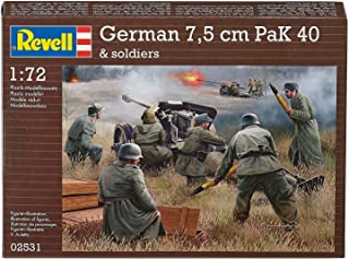 Revell Germany Kids 1/72 German Pak 40 with Soldiers Model Kit