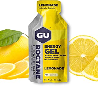 GU Energy Roctane Ultra Endurance Energy Gel, Lemonade, 24-Count