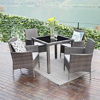 Amazon Com Grey Patio Furniture Sets Patio Furniture