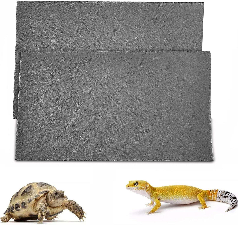 Hamiledyi Mesa Mall 2 PCS Reptile Carpet Habitat Lin Lizards security Substrate Mat