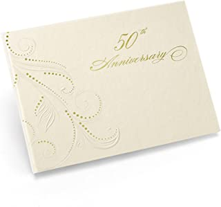 Hortense B. Hewitt 50th Swirl Dots Anniversary Guest Book, 7.5 x 5.75-Inches
