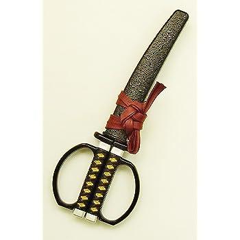 日本刀はさみ 坂本龍馬 陸奥守吉行 モデル 18.5cm 黒 [並行輸入品]