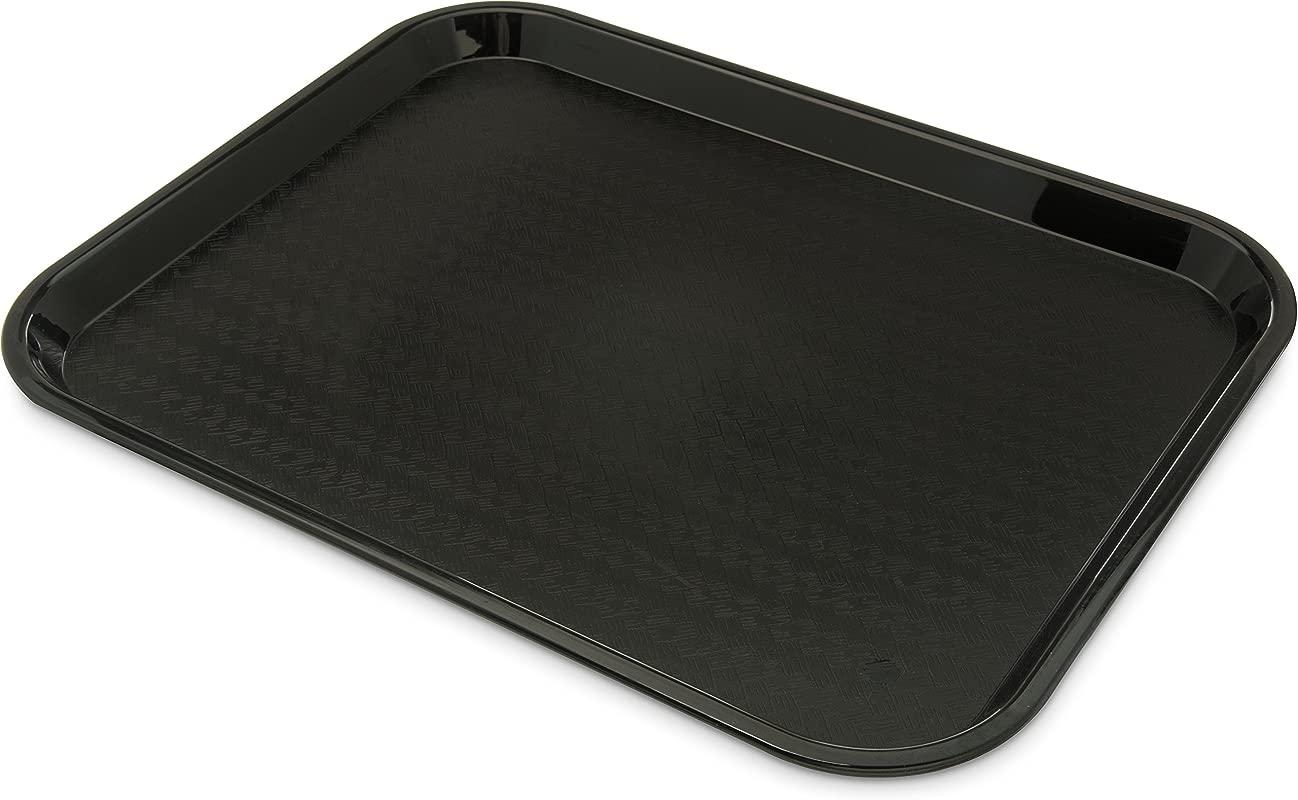 Carlisle CT141803 Caf Standard Cafeteria Fast Food Tray 14 X 18 Polypropylene Black