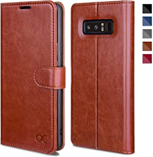 OCASE Galaxy Note 8 Case, Samsung Galaxy Note 8 Wallet Case [TPU Shockproof Interior Protective Case] [Card Slot] [Kickstand] [Magnetic Closure] Leather Flip Cover for Samsung Galaxy Note8 - Brown