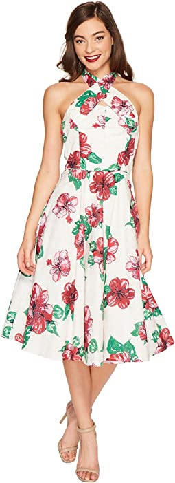 Halter Flora Swing Dress