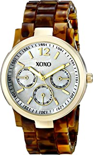 XOXO Womens Quartz Watch, Analog Display and Plastic Strap XO5509
