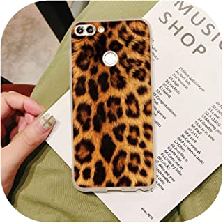 Silicone Case 2018 Leopard Print for Hua-Wei P Smart 2019 Plus P30 P20 P10 P9 P8 Lite Mate 20 10 Pro Lite Nova 3I Cover,for Hua-Wei P10,Style 01