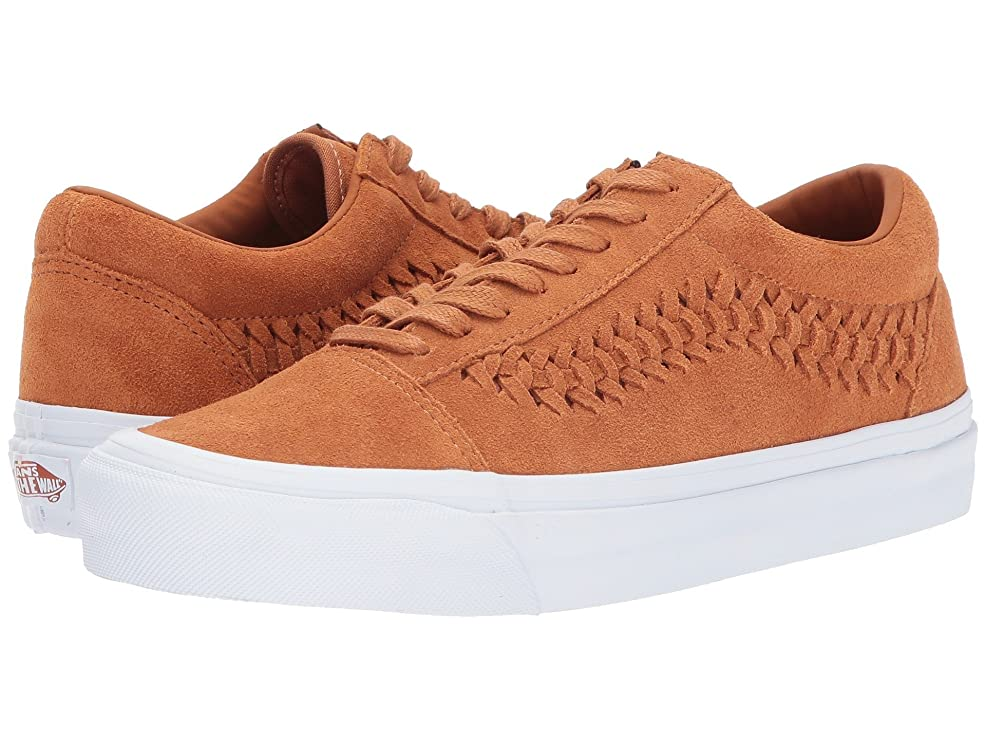 彼女の気づく堤防(バンズ) VANS メンズスニーカー?靴 UA Old Skool Weave DX Glazed Ginger Suede Men's 6, Women's 7.5 (24m(レディース24.5cm)) Medium