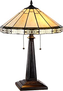 Chloe Lighting CH31315MI16-TL2 Belle Tiffany-Style Mission 2 Light Table Lamp with Shade, 26 x 20 x 9 5/8