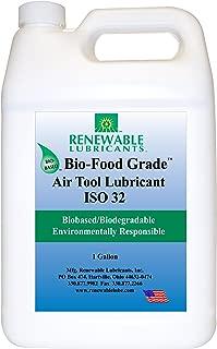 Renewable Lubricants Bio-Food Grade ISO 32 Air Tool Lubricant, 1 Gallon Bottle