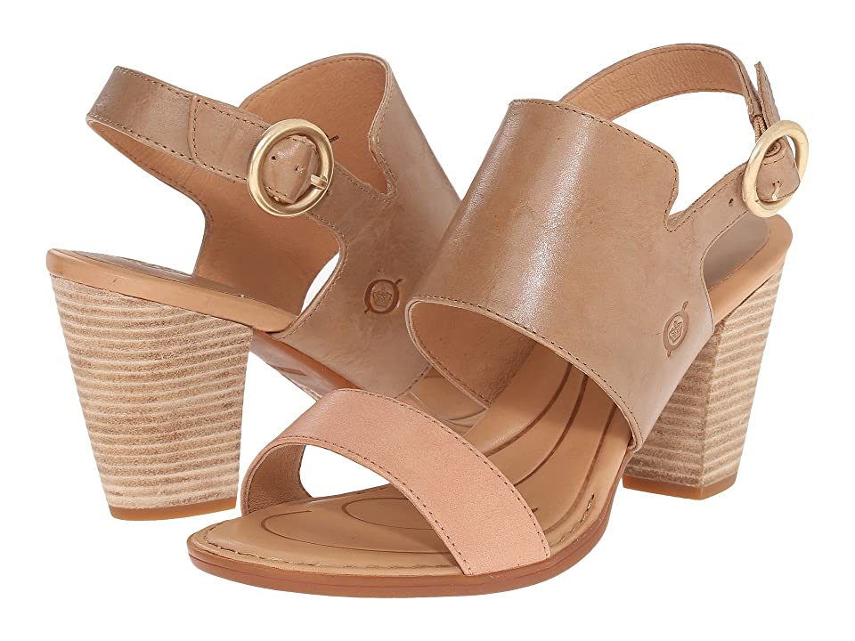 Born Cindie (Sabbia/Rosa Full Grain Leather) Women