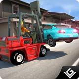 車の重いトラフィックドライバシミュレータ3D:建設フォークリフト運転シミュレーションアドベンチャーフリーゲーム2018