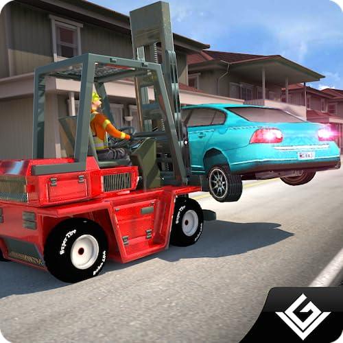 Auto-Starker Fahrer-Simulator 3D: Bau-Gabelstapler-treibendes Simulations-Abenteuer-freies Spiel 2018