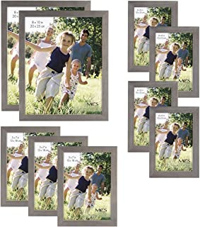 MCS Gallery Wood 9-Piece Frame Set, Grey (65617)