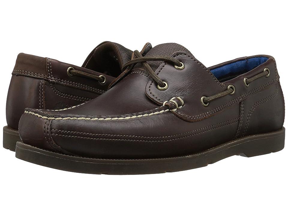 Timberland Piper Cove Leather Boat Shoe (Dark Brown Full Grain) Men