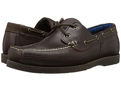 Timberland Piper Cove Leather Boat Shoe (Dark Brown Full Grain) Men
