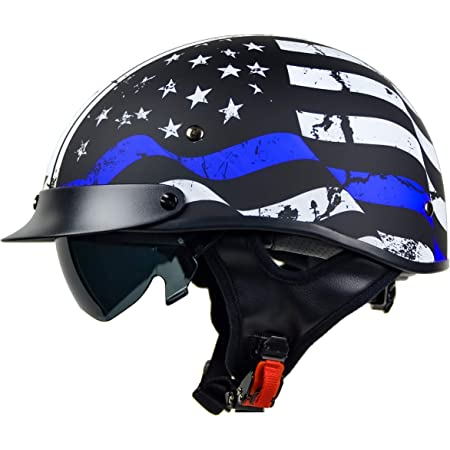 Vega Helmets Warrior Motorcycle Half Helmet with Sunshield XL