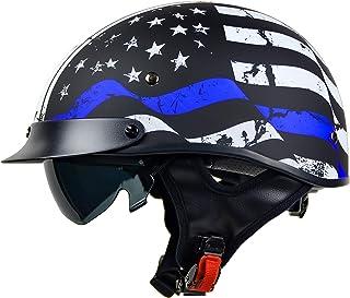 Vega Helmets 7850-025 Unisex-Adult Half Size Motorcycle Helmet (Back the Blue, X-Large)