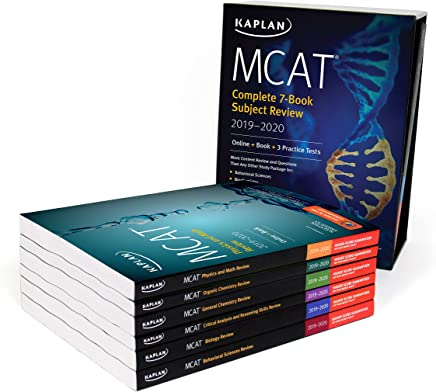 MCAT Complete 7-Book Subject Review 2019-2020: Online + Book + 3 Practice Tests (Kaplan Test Prep)