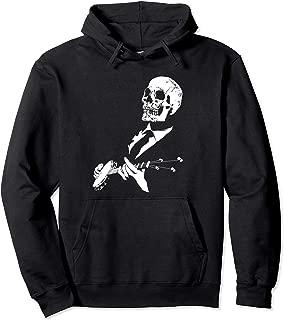 Skeleton Banjo Player Graphic Music Musician Halloween Pullover Hoodie