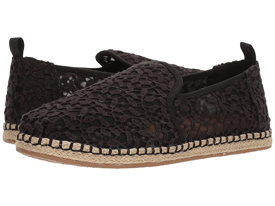 TOMS Deconstructed Alpargata Rope (Black Lace Leaves) Women