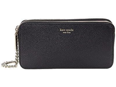 Kate Spade New York Margaux Double Zip Mini Crossbody (Black) Cross Body Handbags