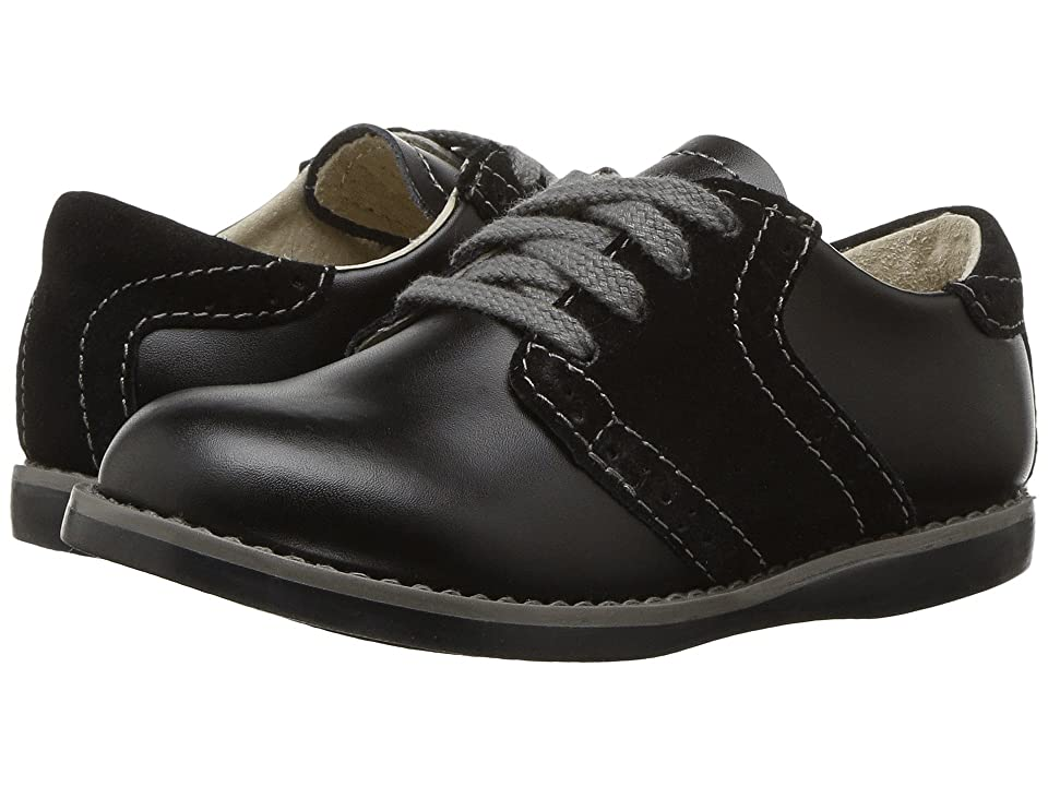 FootMates Connor 2 (Toddler/Little Kid) (Black/Black) Boys Shoes