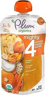 Plum Organics Tots Mighty 4 Toddler Food, Pumpkin, Carrot, Banana, Pomegranate, Greek Yogurt, Quinoa and Oat, 4 Ounce (Pac...