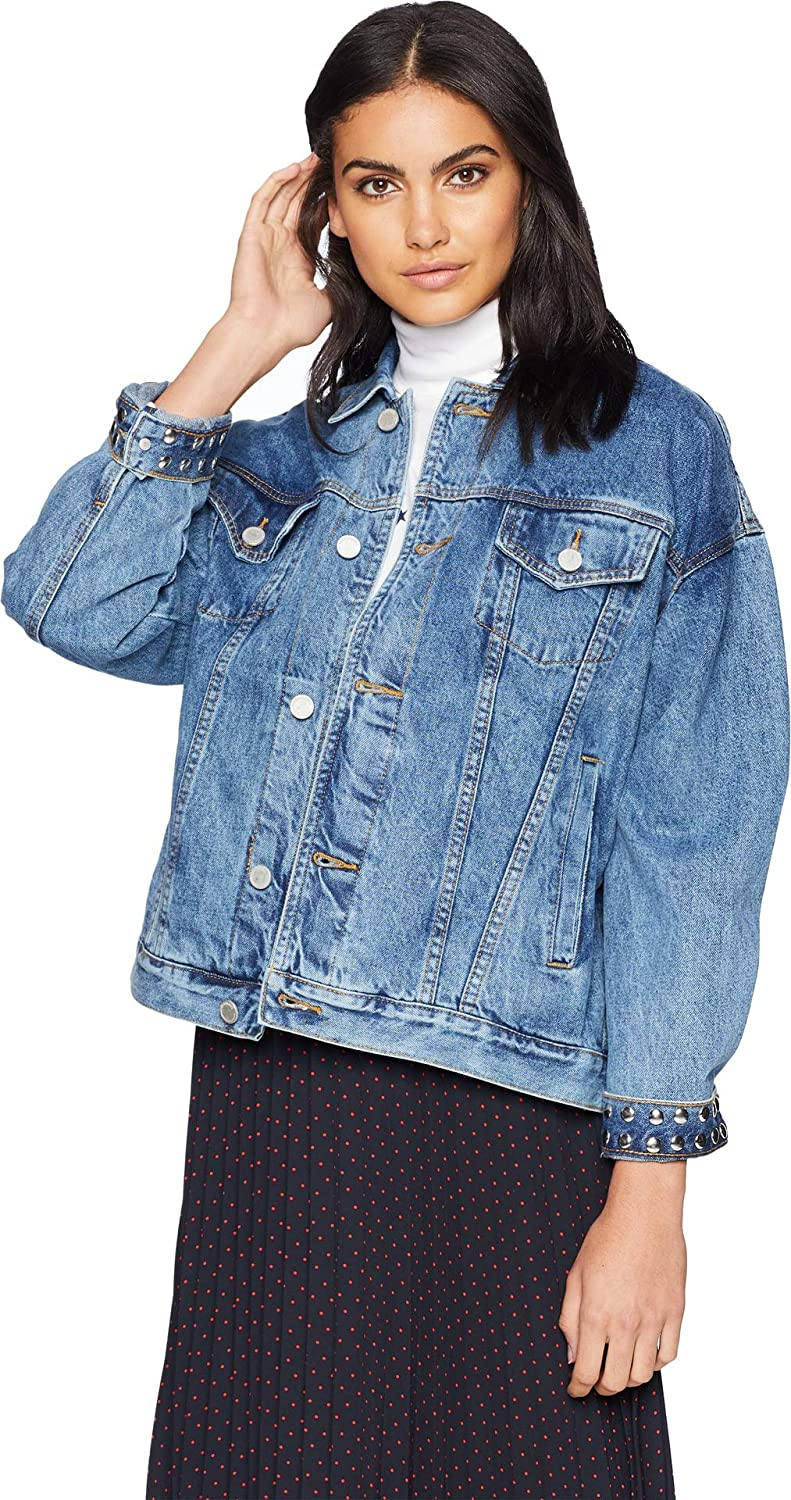 [BLANKNYC] Blank NYC Womens Denim Trucker Jacket in Rebel Without A Cause