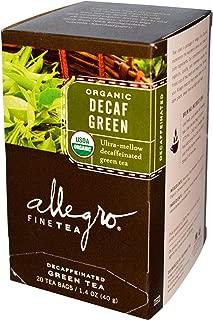 Allegro Fine Tea, Organic, Decaf Green Tea, 20 Tea Bags, 1.4 oz