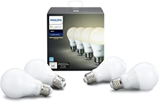 Hue White A19 4 Pack (Compatible with Amazon Alexa, Apple Home Kit and Google Assistant)