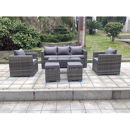 Fine Grey Rattan Sofa Amazon Co Uk Machost Co Dining Chair Design Ideas Machostcouk