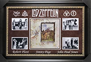 Led Zeppelin (3) Plant, Page & Jones Signed IV Album Cover BAS #A88738 - Beckett Authentication