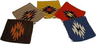 Wool Mug Rug Eco Friendly Woven Coasters 4 Set Handwoven Southwest Cocktail Beer Mats Peru