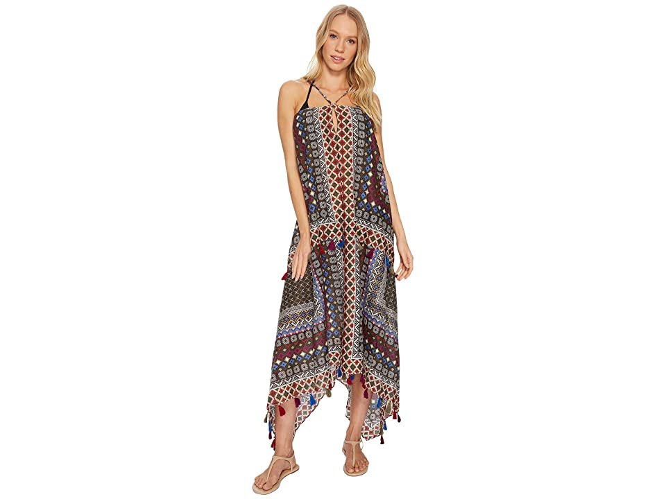 Miraclesuit Ladies of the Canyon Joni Dress Cover-Up (Black Multi) Women