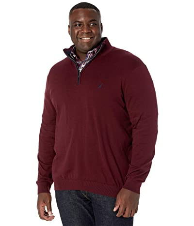 Nautica Big & Tall Big Tall Sweater Mock Neck (Royal Burgundy) Men