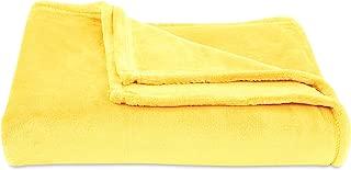 Berkshire Blanket Decorative VelvetLoft Blanket Plush Throw, Sundress