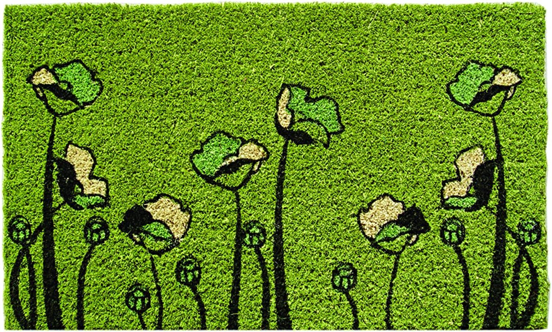 Entryways Two-Lips Hand Woven Coconut Fiber Doormat, 18-Inch X 30-Inch