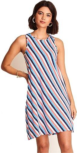 Bella Dress - Diagonal Stripes