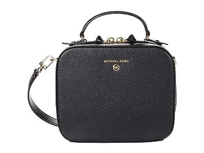 MICHAEL Michael Kors Jet Set Charm Medium Top-Handle Crossbody (Black) Handbags