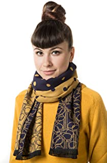 Mio Marino Winter Cashmere Feel Women Scarf, 100% Cotton Fashion Scarves, In Elegant Gift Box