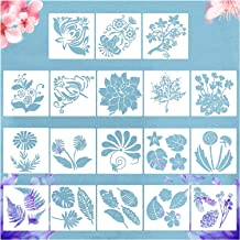 18pcs Stencils for Painting,Birds Botany Tree Branches Flower Stencils, Drawing Template,DIY Manual Account Template,Artis...