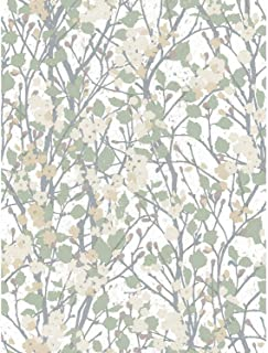 RoomMates RMK11422RL Willow Branch Peel and Stick Wallpaper, Beige