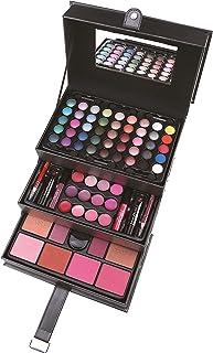 Vanity Case Cosmetic Make Up Professional Black Beauty Box Large Storage 82 Pcs