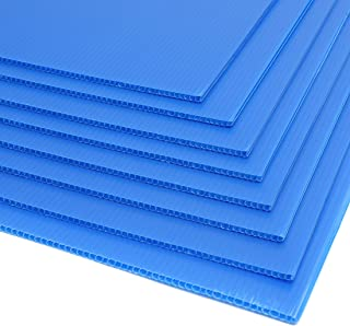 Juvale 8-Pack Blank Corrugated Plastic Yard Lawn Signs, Blue, 24 x 36 Inches