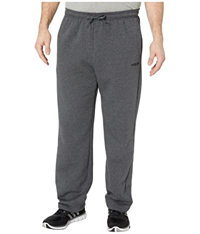adidas Big Tall Essential Fleece Pants (Dark Grey Heather/Black) Men