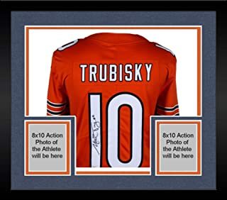 Framed Mitchell Trubisky Chicago Bears Autographed Nike Orange Limited Jersey - Fanatics Authentic Certified
