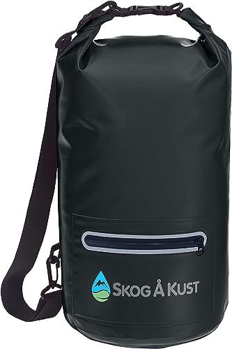 Skog Å Kust DrySåk Waterproof Floating Dry Bag with Exterior Zippered Pocket | for Kayaking, Rafting, Boating, Swimmi...