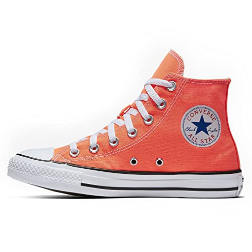 f60a15636d39 Converse Unisex Sneakers Chuck Taylor All Star Hi Top Hyper Orange Canvas  155739F Size 5.5