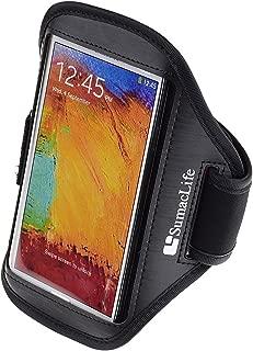 SumacLife Matte Leather Workout Armband for Microsoft Lumia 640 XL / Nokia Lumia 1520 / Nokia Lumia 1320 / Nokia XL (Black)